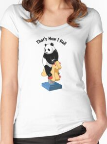 Panda Bear That's How I Roll Women's Fitted Scoop T-Shirt