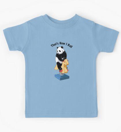 Panda Bear That's How I Roll Kids Tee