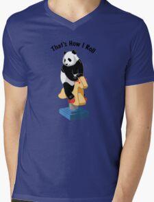 Panda Bear That's How I Roll Mens V-Neck T-Shirt