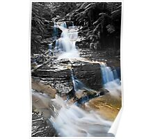 Leura Cascades in The Blue Montains - Selective colouring Poster
