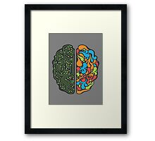 Techno Mind Framed Print