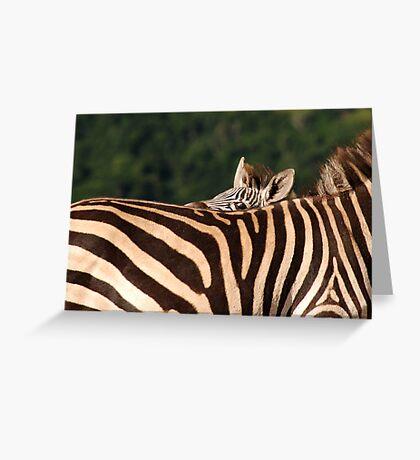 I'm hiding behind mum. Greeting Card