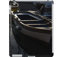 Charming Old Wooden Boats in the Harbor iPad Case/Skin