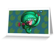 DANCING LILLYPAD Greeting Card