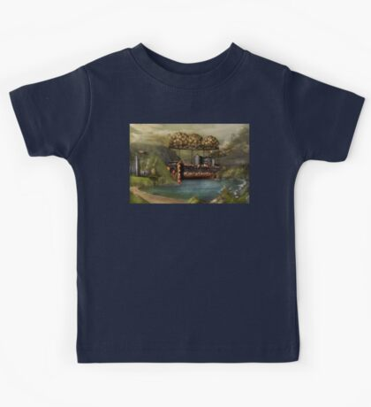 Steampunk - Airship - The original Noah's Ark Kids Tee