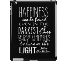 Turn On The Light #White Version iPad Case/Skin