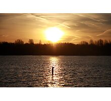 Sunrise at a nearby lake Photographic Print