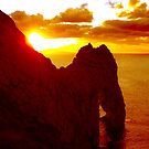 Durdle Door Orange Sunset 2 by qshaq