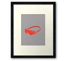 Red Goggles Framed Print