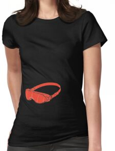 Red Goggles Womens Fitted T-Shirt