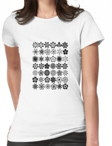 just flowers Womens Fitted T-Shirt