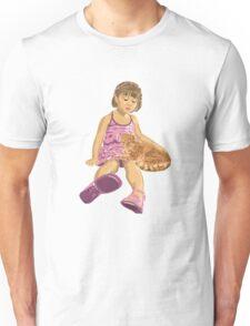 Girl&Cat Unisex T-Shirt