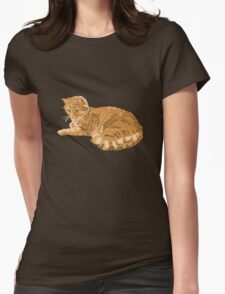 red cat Womens Fitted T-Shirt