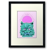 Heartless Kitty Pink Framed Print