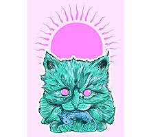 Heartless Kitty Pink Photographic Print