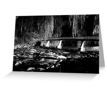 The River BW Greeting Card