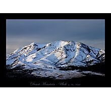 Desert Mountain - Utah nature landscape Photographic Print