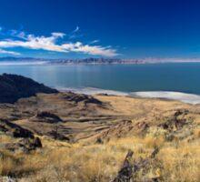 The Great Salt Lake from Antelope Island - Utah nature landscape print Sticker