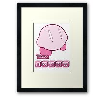 Team Kirby Framed Print