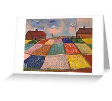 Dutch Bulb Field Greeting Card
