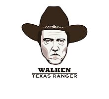 Christopher Walken - Walken, Texas Ranger Photographic Print