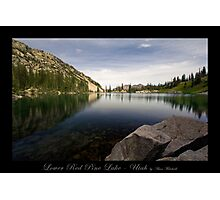 Lower Red Pine Lake - Utah nature landscape  Photographic Print