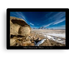 Utah Desert in the Winter - Utah nature landscape Canvas Print