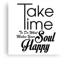 Happy Soul Canvas Print