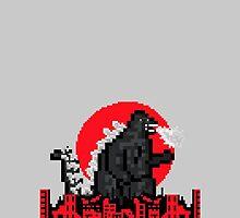 8-Bit Godzilla by Dyzce