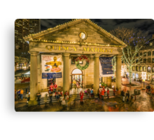 Quincy Market at Christmas Canvas Print