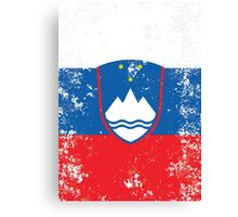Flag of Slovenia Canvas Print