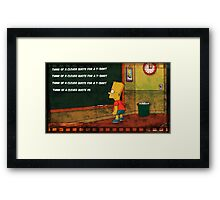 Clever Quote Framed Print