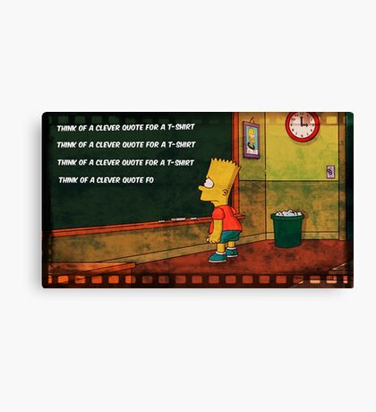 Clever Quote Canvas Print