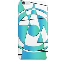 Lines (Blue) iPhone Case/Skin