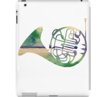 Watercolor French Horn iPad Case/Skin