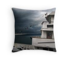 Moonlight Serenade For A White Boat Throw Pillow