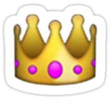 Emoji Crown Sticker