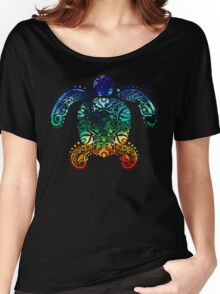 Inked Sea Turtle Women's Relaxed Fit T-Shirt