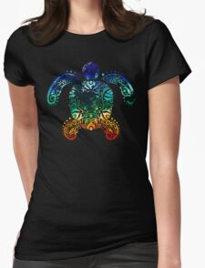 Inked Sea Turtle Womens Fitted T-Shirt