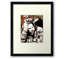 The Dude and his rug Framed Print