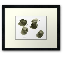 Five Peppers Framed Print