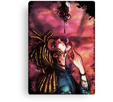 vampire, blood and rose Canvas Print