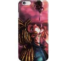 vampire, blood and rose iPhone Case/Skin