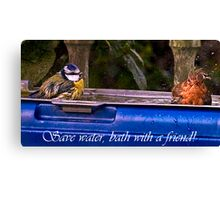 Save water,bath with a friend! Canvas Print