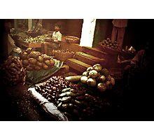 indian market Photographic Print