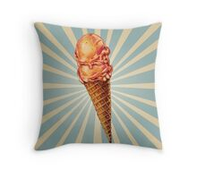 Strawberry Double Scoop Throw Pillow