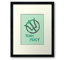 Team Percy Framed Print