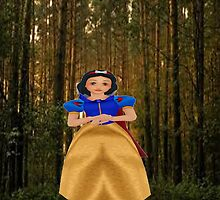 snow white in the woods by LokiLaufeysen