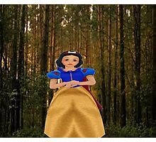 snow white in the woods Photographic Print