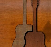 Wood Be Guitar by Lisa  Marie Peaslee